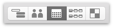 Switching to Calendar View with the View Switcher in the toolbar.