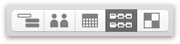 Switching to Network View with the View Switcher in the toolbar.
