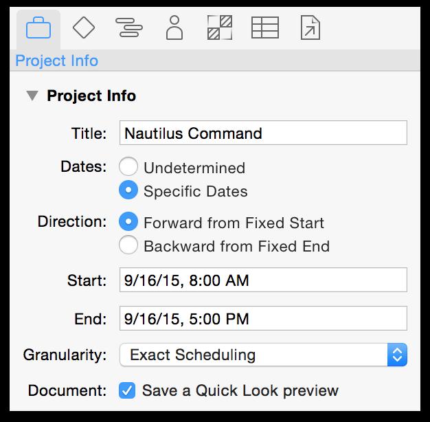 OmniPlan 3 for Mac User Manual — Working in OmniPlan: A Tutorial