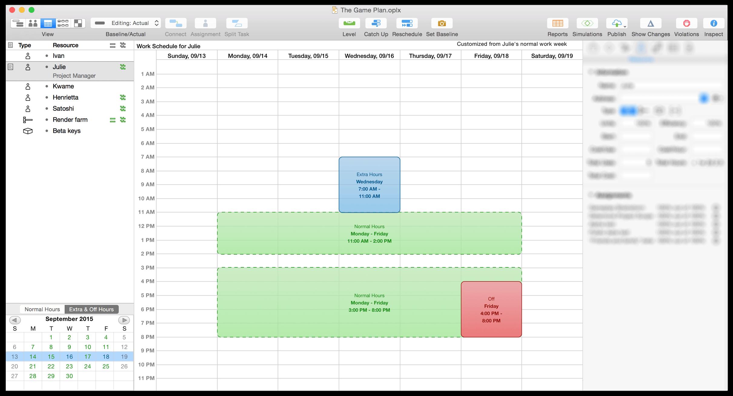 Omniplan 3 For Mac User Manual The Omni Group Os X Block Diagram Calendar View