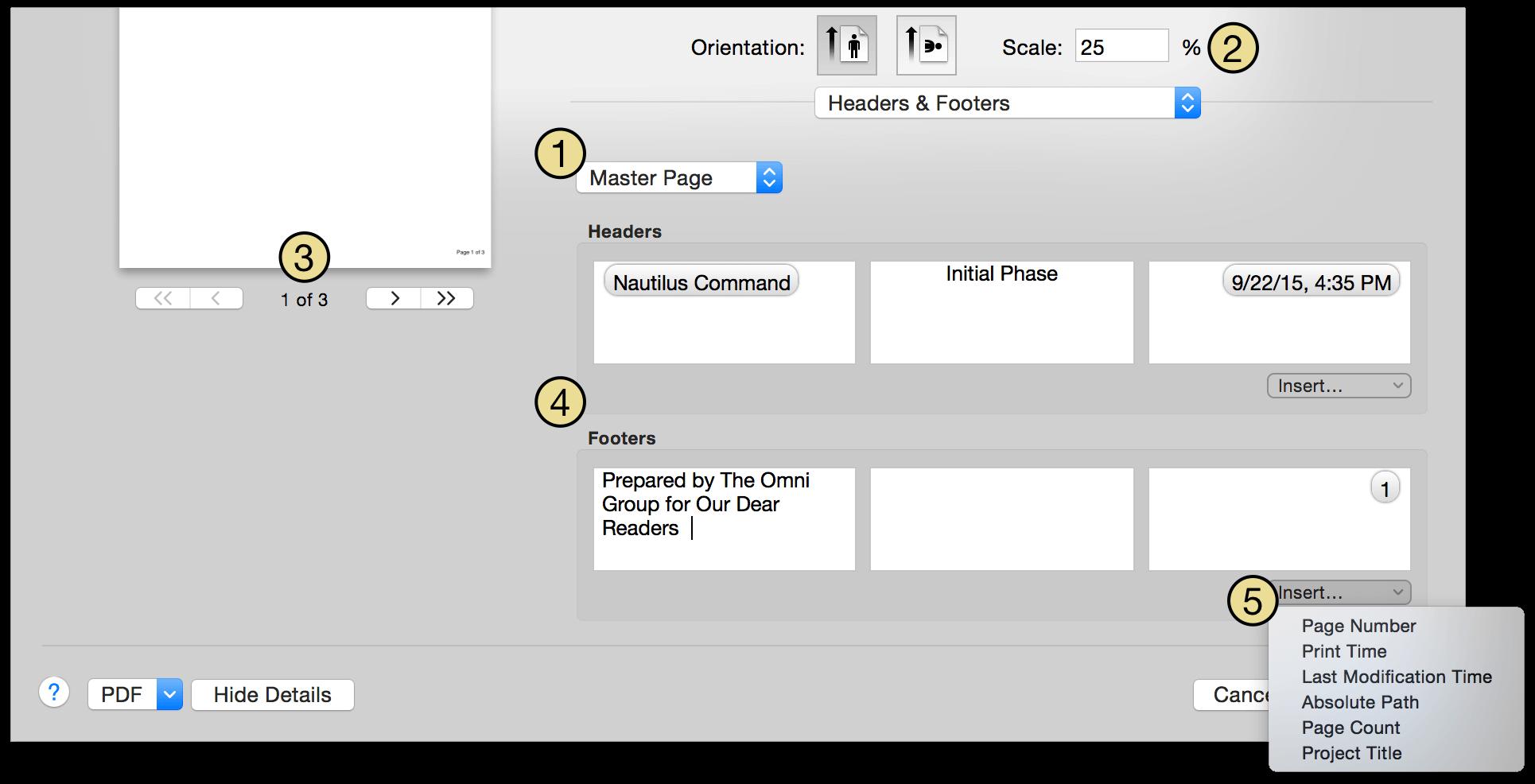 OmniPlan 3 for Mac User Manual - Reporting and Printing