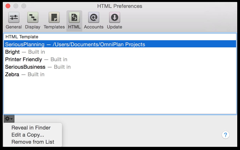Omniplan 3 For Mac User Manual Omniplan Preferences