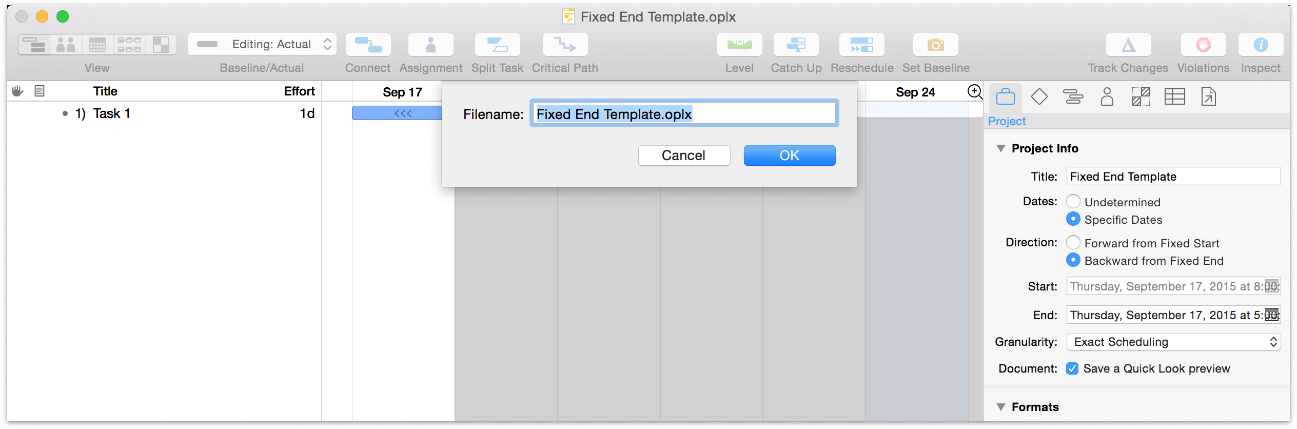 Omniplan 3 for mac user manual omniplan preferences saving a document as a template pronofoot35fo Choice Image