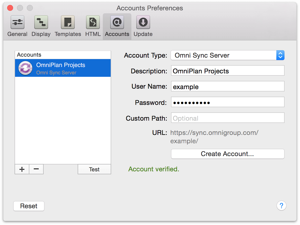 Omniplan 36 for mac user manual the omni group sync account creation in preferences for omniplan 3 for mac buycottarizona Choice Image