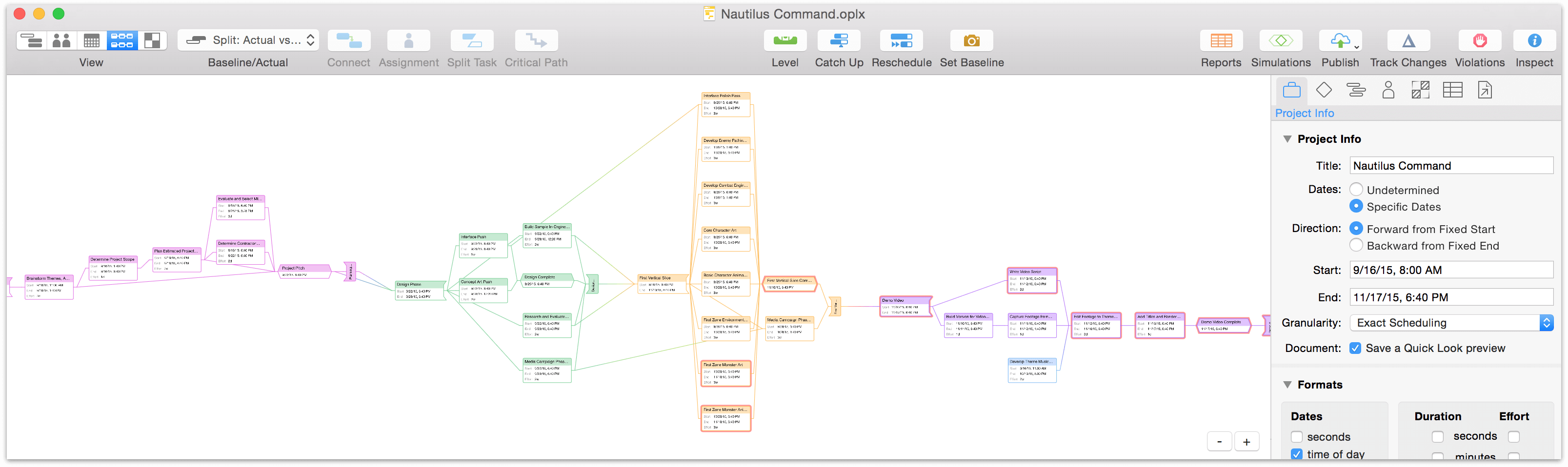 Omniplan 37 reference manual for macos the omni group a project in network view in omniplan 3 ccuart Images