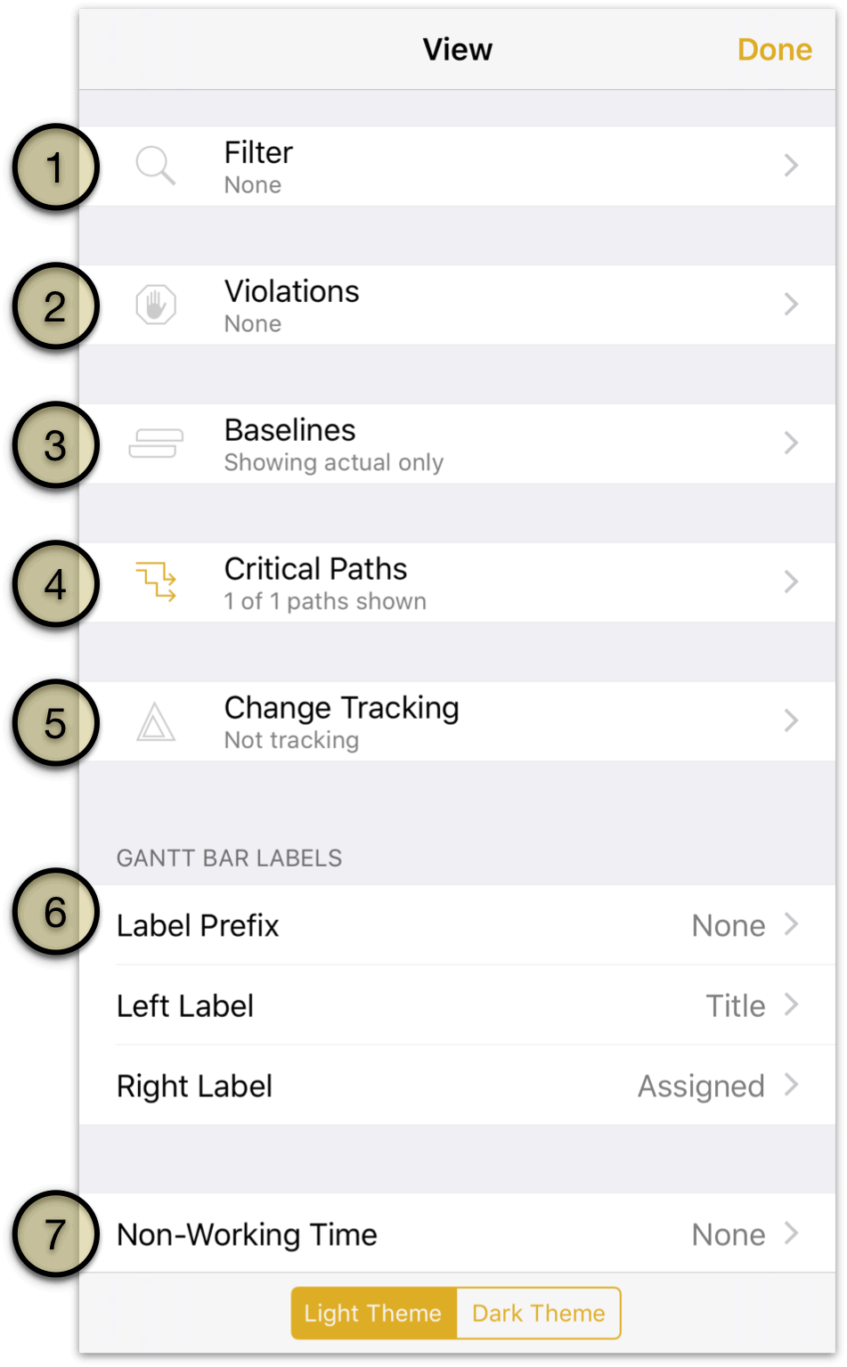 OmniPlan 3 for iOS User Manual - Working in the Project Editor