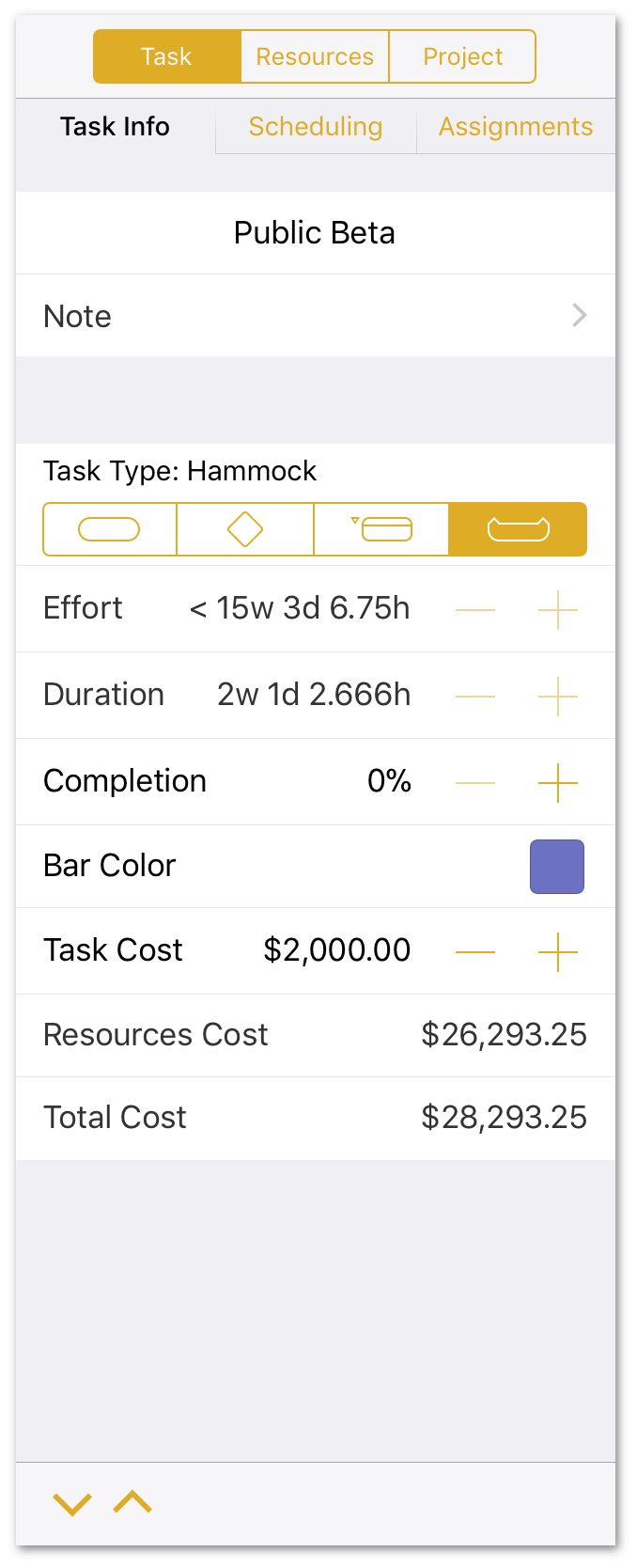 Setting a Task Cost for the Public Beta
